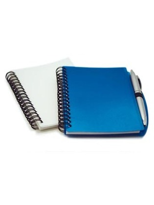 Promotional Product PLASTIC COVER NOTEBOOK WITH PEN