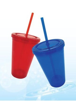 Promotional Product ICE TUMBLER WITH STRAW