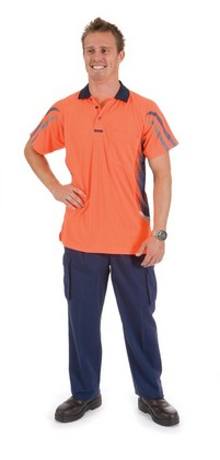 Promotional Product HiVis Cool Breathe Sublimated Contrast Stripe & Panel Polo Shirt, S/S