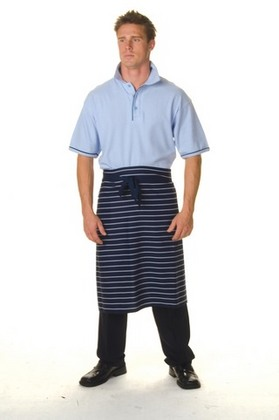 Promotional Product Pinstripe 3/4 Apron-No Pocket