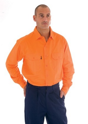 Promotional Product HiVis Cotton Drill Work Shirt, L/S