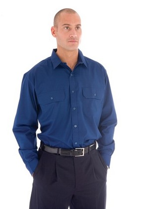 Promotional Product Polyester Cotton Work Shirt - L/S