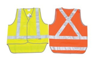 Promotional Product Day & Night Cross Back Safety Vest with Tail