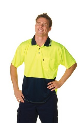 Promotional Product HiVis Two Tone Fluoro Polo Shirt, Micromesh, S/S