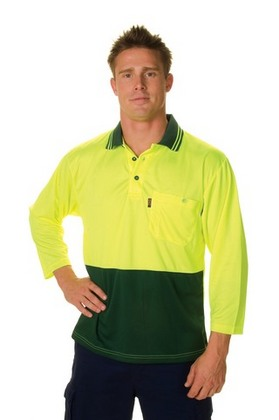 Promotional Product HiVis Two Tone Fluoro Polo Shirt, Micromesh,