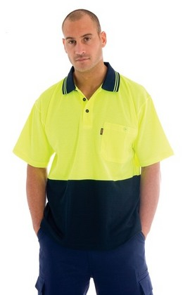 Promotional Product Cotton Back HiVis Two Tone Fluoro Polo Shirt, S/S