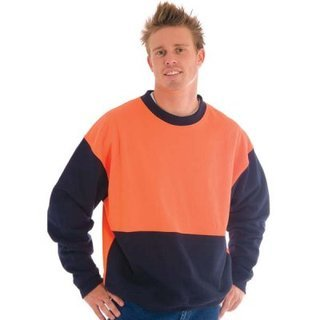 Promotional Product HiVis Two Tone Fleecy Sweat Shirt (Sloppy Joe)  - Crew Neck