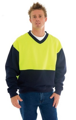 Promotional Product HiVis Two Tone Fleecy Sweat Shirt (Sloppy Joe)  - V Neck