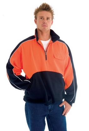 Promotional Product HiVis Two Tone 1/2 Zip Hi-Neck Panel Fleecy Wincheater