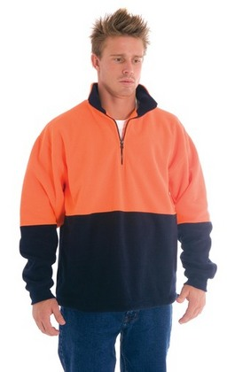 Promotional Product HiVis Two Tone 1/2 Zip Polar Fleece