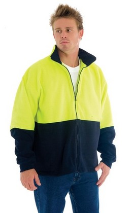 Promotional Product HiVis Two Tone Full Zip Polar Fleece