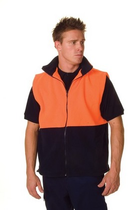 Promotional Product HiVis Two Tone Full Zip Polar Fleece Vest