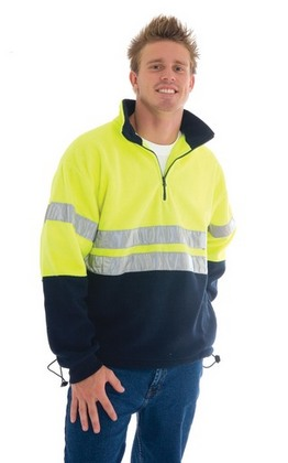 Promotional Product HiVis 1/2 Zip Polar Fleece With 3M8910 Reflective Tape