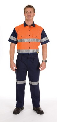 Promotional Product HiVis Two Tone Drill Shirt With 3M8910 R/Tape, S/S