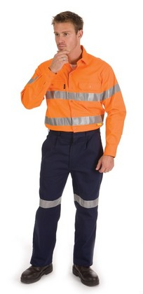 Promotional Product HiVis Drill Shirt With 3M8910 Reflective Tape, L/S