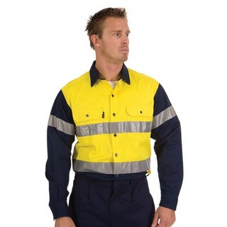 Promotional Product HiVis Two Tone Drill Shirt With 3M8910 R/Tape, L/S