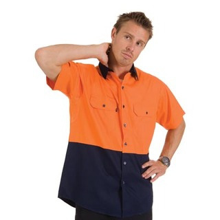 Promotional Product HiVis Two Tone Cool-Breeze Cotton Shirt, S/S