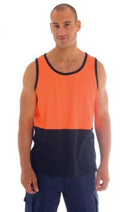 Promotional Product Cotton Back HiVis Two Tone Singlet