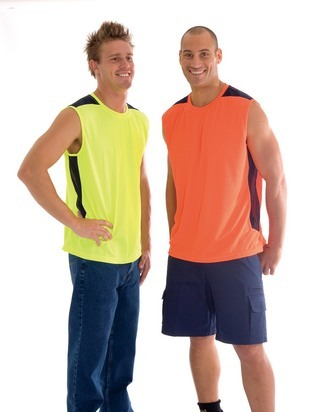 Promotional Product HiVis Cool-Breeze Contrast Mesh Tank Top