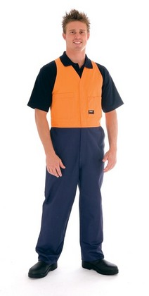 Promotional Product HiVis Two Tone Cotton Action Back Overall