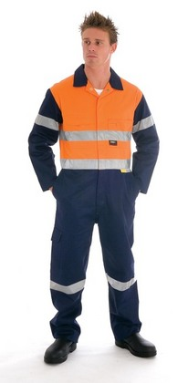 Promotional Product HiVis Two Tone Cotton Coverall with 3M8910 R/Tape