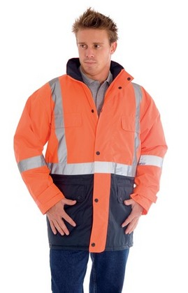 Promotional Product HiVis Two Tone Long Quilted Jacket with 3M8906 R/Tape