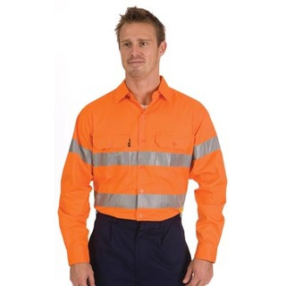 Promotional Product HiVis Cool-Breeze Cotton Shirt with 3M8910 R/Tape, L/S