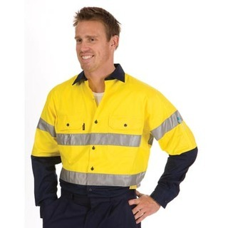 Promotional Product HiVis Two Tone Cool-Breeze Cotton Shirt with 3M8910 R/Tape, L/S