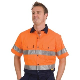 Promotional Product HiVis Two Tone Cool-Breeze Cotton Shirt with 3M8910 R/Tape, S/S