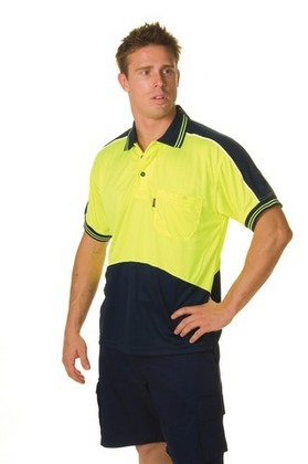 Promotional Product HiVis Micromesh Panel Polo Shirt, S/S