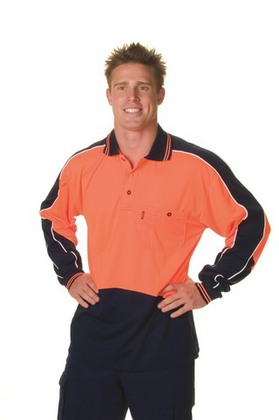 Promotional Product HiVis Micromesh Panel Polo Shirt, L/S