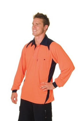 Promotional Product HiVis Action Polo Shirt, L/S