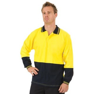 Promotional Product HiVis Cool-Breeze Cotton Jersey Food Industry Polo,  L/S