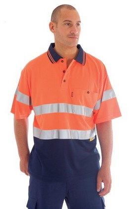 Promotional Product HiVis Micromesh Polo Shirt with 3M8906 R/Tape, S/S