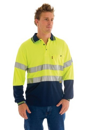 Promotional Product HiVis Micromesh Polo Shirt with 3M8906 R/Tape, L/S