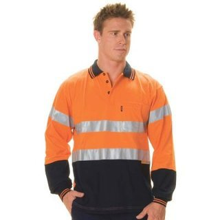 Promotional Product HiVis Cool-Breeze Cotton Jersey Polo with 3M8906 R/Tape, L/S
