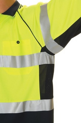 Promotional Product HiVis Cool-Breeze Cotton Back Side Mesh Panel Polo with 3M8710 R/Tape, L/S