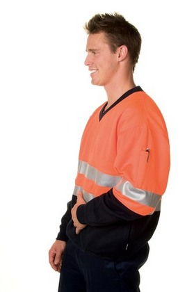Promotional Product HiVis Two Tone 1/2 Zip Cotton Fleecy  Wincheater