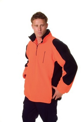 Promotional Product HiVi Contrast Panel 1/2 Zip Polar Fleece