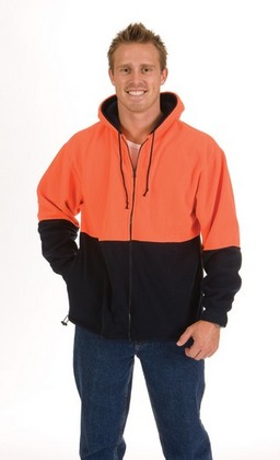 Promotional Product HiVi Two Hone Full Zip Polar Fleece Hoodie