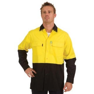 Promotional Product HiVis 3 Way Cool-Breeze Cotton Shirt, L/S