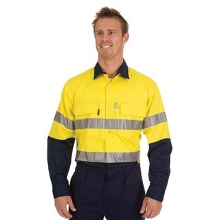 Promotional Product HiVis Two Tone 3 Way Cool-Breeze Cotton Shirt with 3M8910 R/Tape, L/S