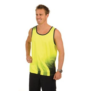 Promotional Product HiVis Cool Breathe Sublimated Wave Blend Singlet