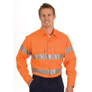 Promotional Product HiVis Cool-Breeze Cotton Shirt with 3M8906 Value R/Tape, L/S