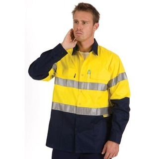 Promotional Product HiVis Two Tone Cool-Breeze Cotton Shirt with 3M8906 Value R/Tape, L/S