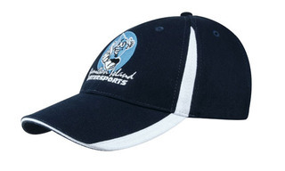 Promotional Product Brushed Heavy  Cotton Cap with Inserts on the Crown and Peak