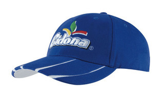 Promotional Product Brushed Heavy  Cotton Cap with Laminated Two-Tone Peak