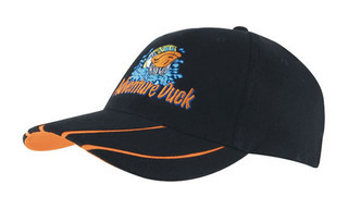 Promotional Product Brushed Heavy  Cotton Cap with Hi-Vis Laminated Two-Tone Peak