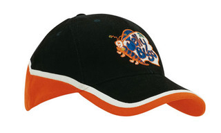 Promotional Product Tri Colour Brushed Heavy Cotton Cap