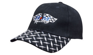 Promotional Product Brushed Heavy  Cotton Cap with Checker Plate Peak